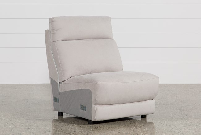 Kerwin Silver Grey Armless Chair - 360