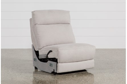 Kerwin Silver Grey Armless Recliner - Main