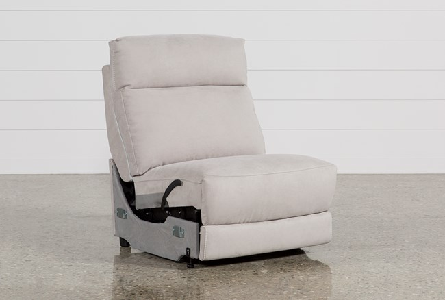 Kerwin Silver Grey Armless Recliner - 360