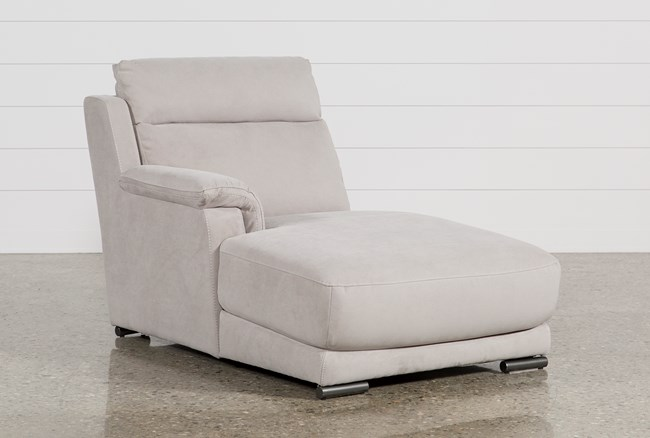 Kerwin Silver Grey Left Facing Chaise - 360