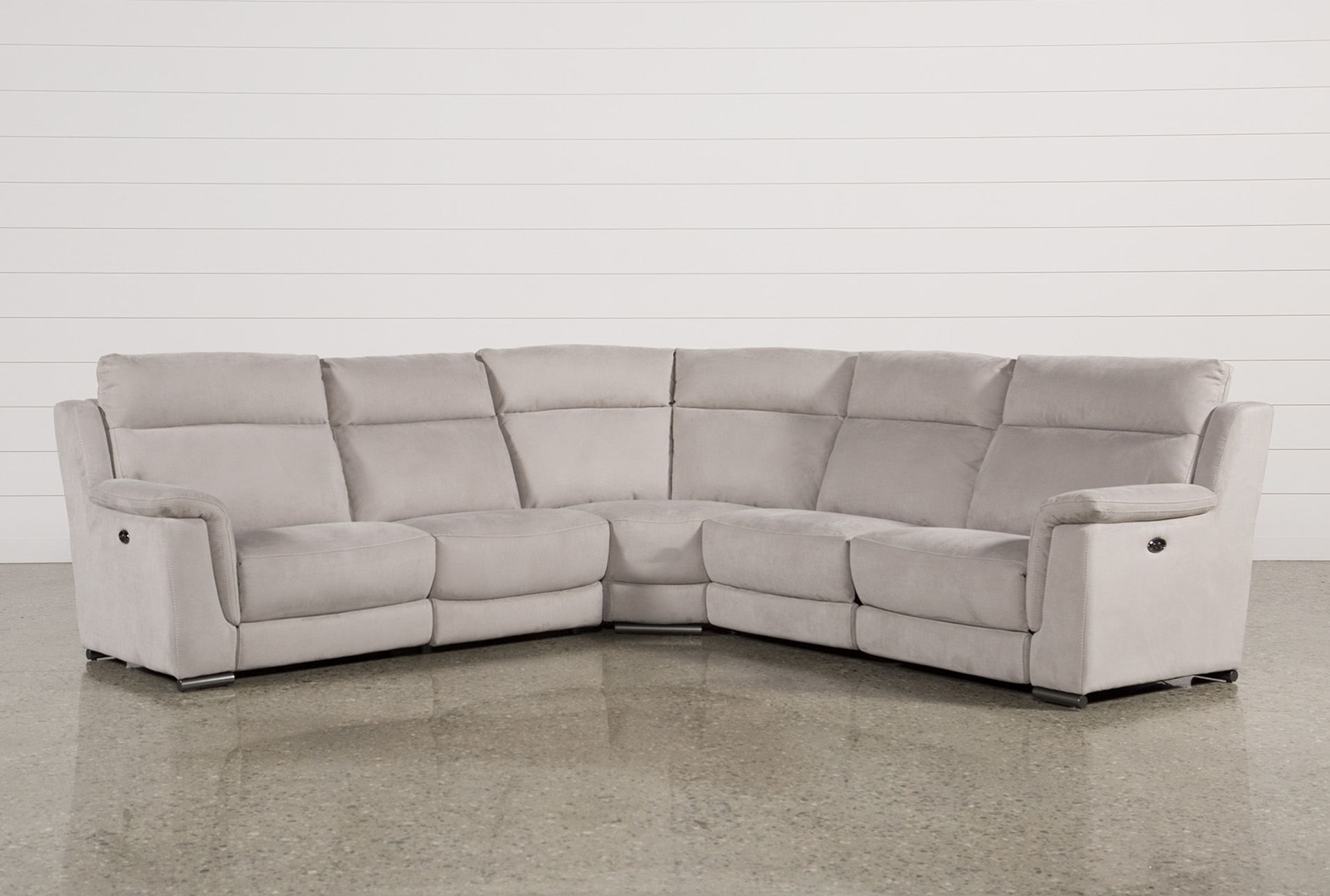 Kerwin Silver Grey 5 Piece Power Reclining Sectional