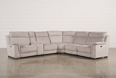 Kerwin Silver Grey 6 Piece Power Reclining Sectional