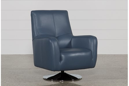 Kawai Leather Swivel Chair - Main