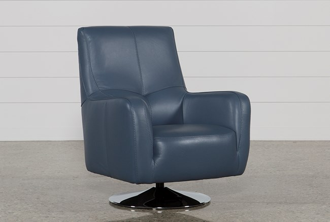 Kawai Leather Swivel Chair - 360