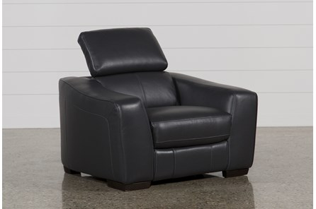 Kristen Slate Grey Leather Power Recliner W/Usb - Main