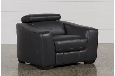 Kristen Slate Grey Leather Power Recliner W/Usb