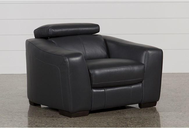 Kristen Slate Grey Leather Power Recliner W/Usb - 360