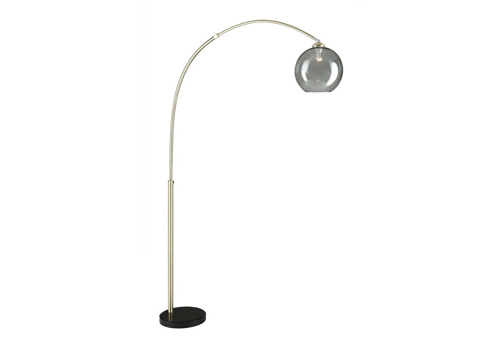 Floor Lamp-Bellina Arc Brass