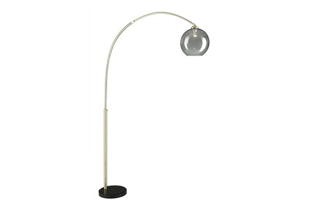 Floor Lamp-Bellina Arc Brass - Main