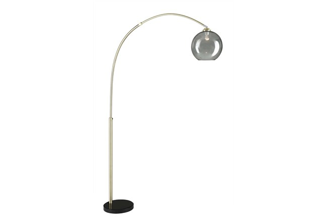 Floor Lamp-Bellina Arc Brass - 360