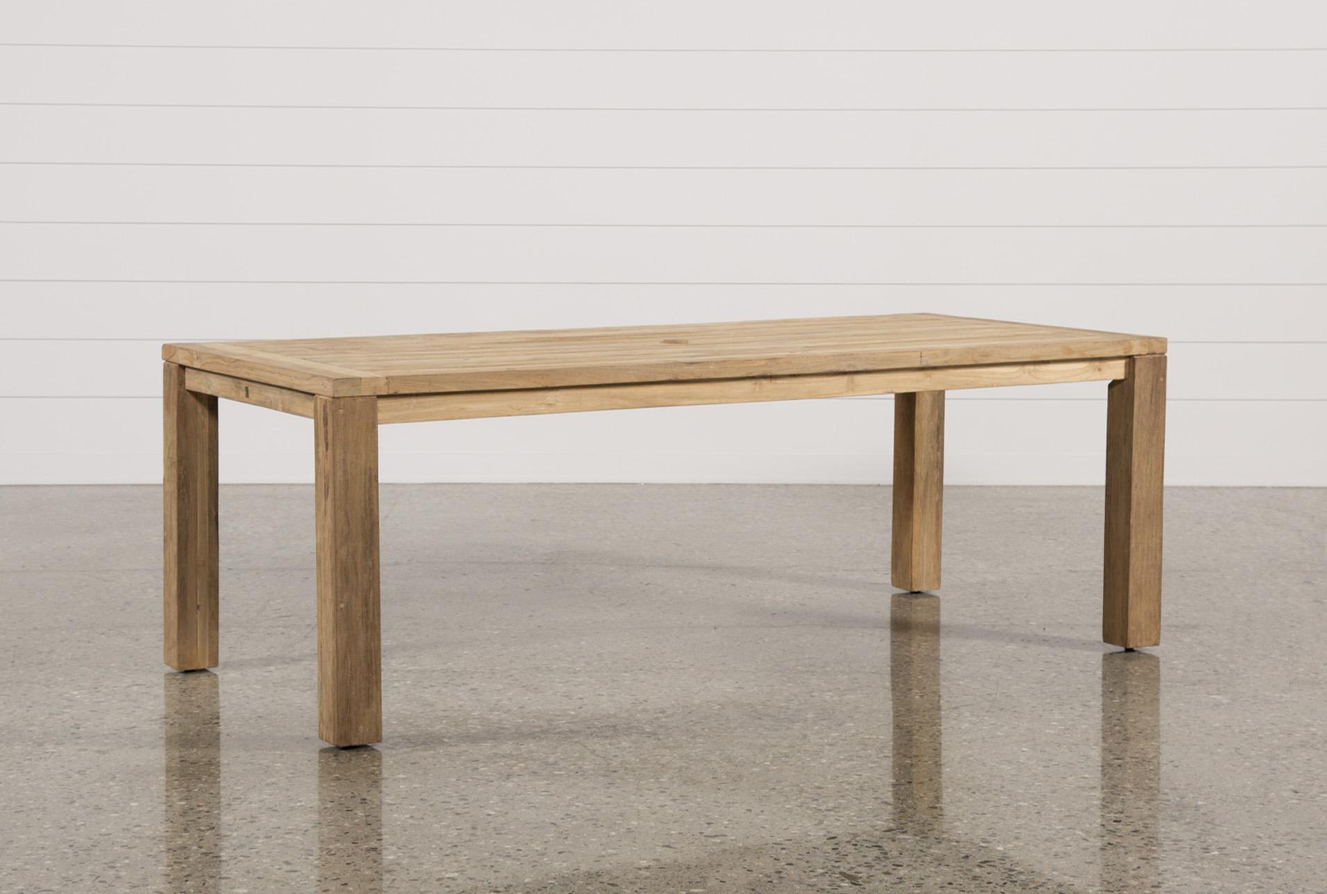 Outdoor Calistoga Teak Dining Table   360