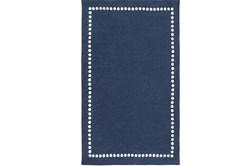 5'x8' Rug-Blue Dot Border