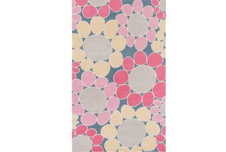 60X90 Rug-Pink Blooms