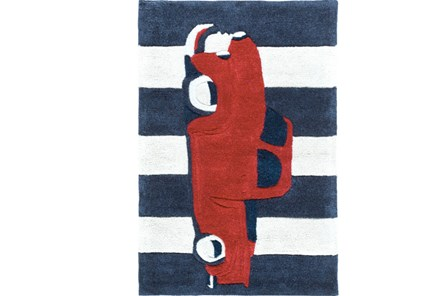 24X36 Rug-Red Truck - Main