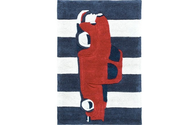 24X36 Rug-Red Truck - 360