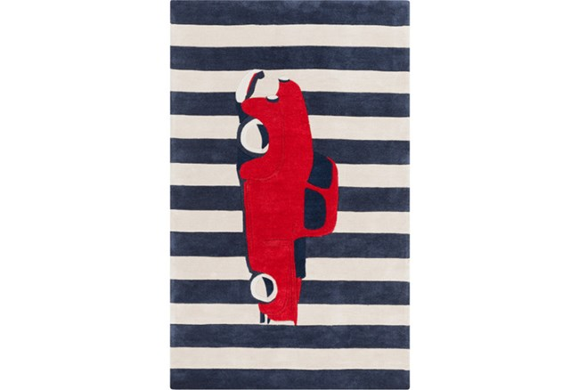 42X66 Rug-Red Truck - 360