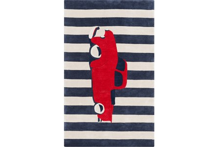 60X96 Rug-Red Truck
