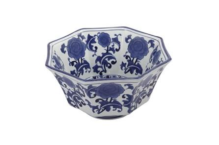 Blue & White Floral Bowl - Main