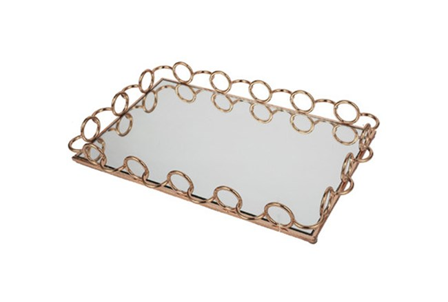 Gold Mirror Tray Small - 360