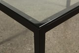Ina Matte Black 60 Inch Dining Table W/Clear Glass - Default