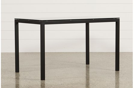 Ina Matte Black 60 Inch Counter Table W/Clear Glass - Main