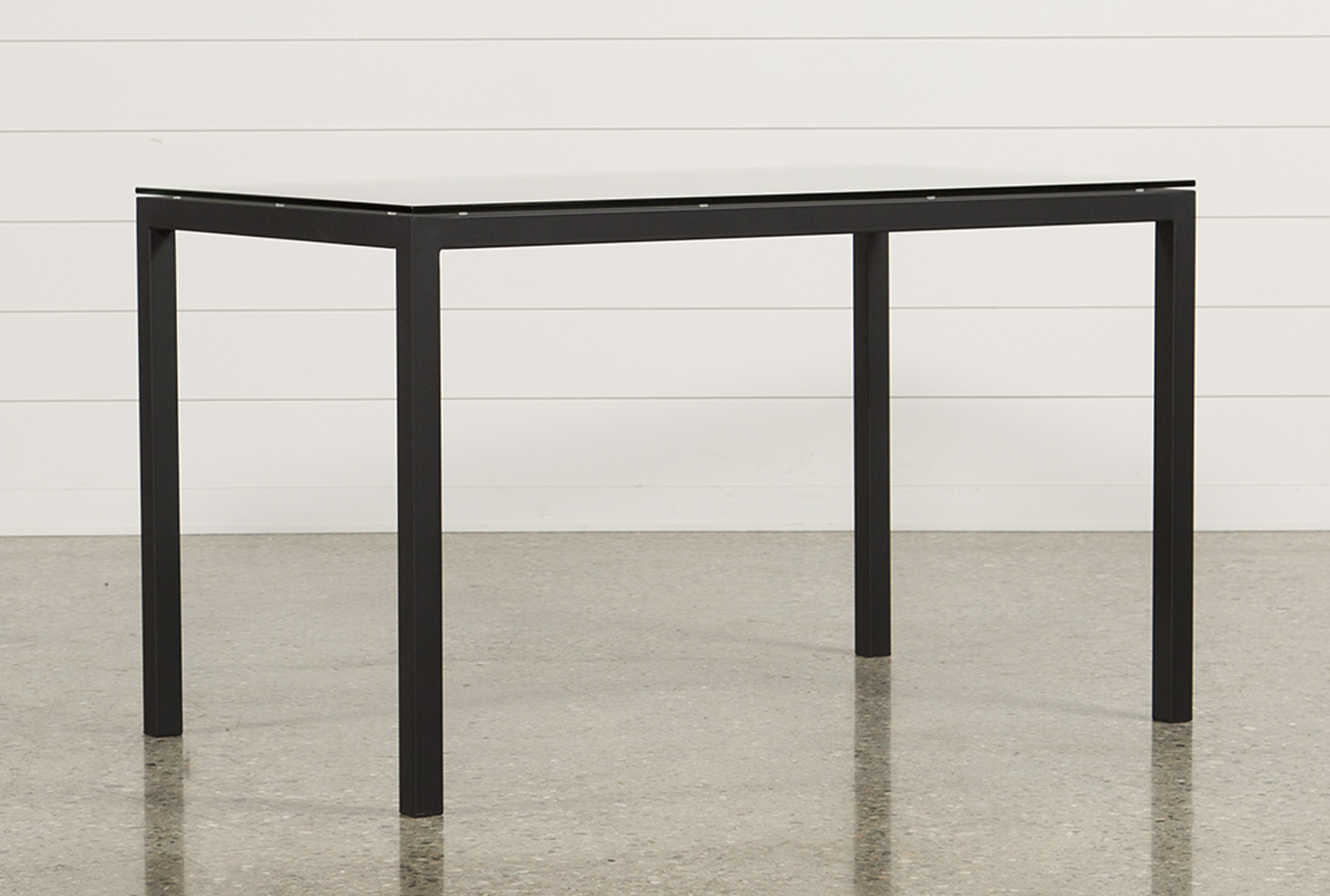 Ina Matte Black 60 Inch Counter Table W/Clear Glass (Qty: 1) Has Been  Successfully Added To Your Cart.