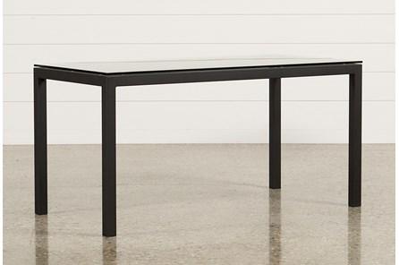 Ina Matte Black 60 Inch Desk W/Clear Glass - Main