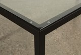 Ina Matte Black 78 Inch Dining Table W/Clear Glass - Default