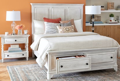 Kincaid Queen Panel Bed With Storage Living Spaces