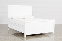 Bayside White California King Panel Bed