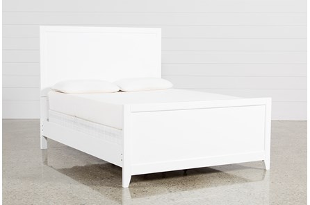 Bayside White California King Panel Bed - Main