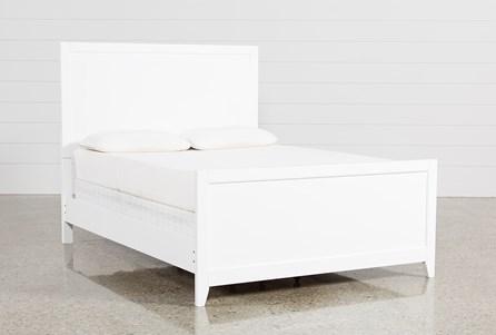 Bayside White Full Panel Bed