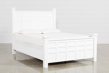 Bayside White California King Poster Bed