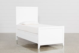 Bayside White Twin Panel Bed