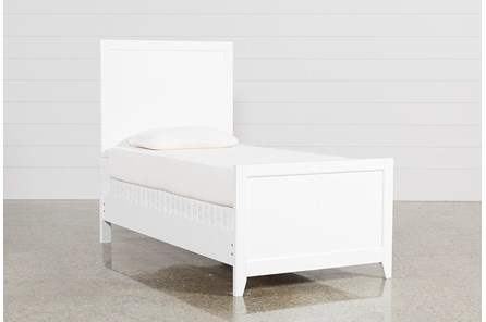 Bayside White Twin Panel Bed - Main
