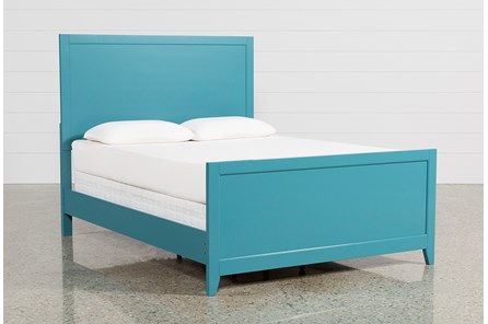 Bayside Blue Eastern King Panel Bed - Main