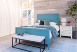 Bayside Blue Queen Panel Bed W/Storage - Room