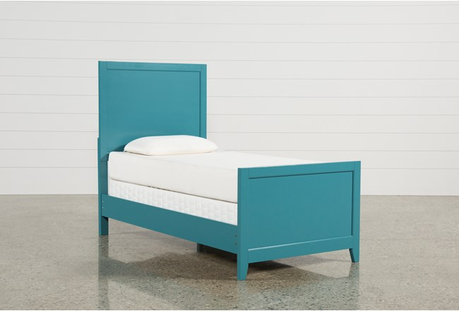 Bayside Blue Twin Panel Bed - 360