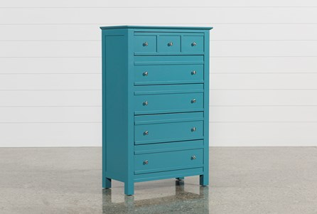Bayside Blue Chest Of Drawers
