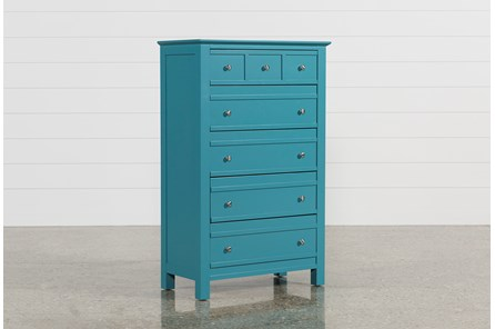 Bayside Blue Chest Of Drawers - Main