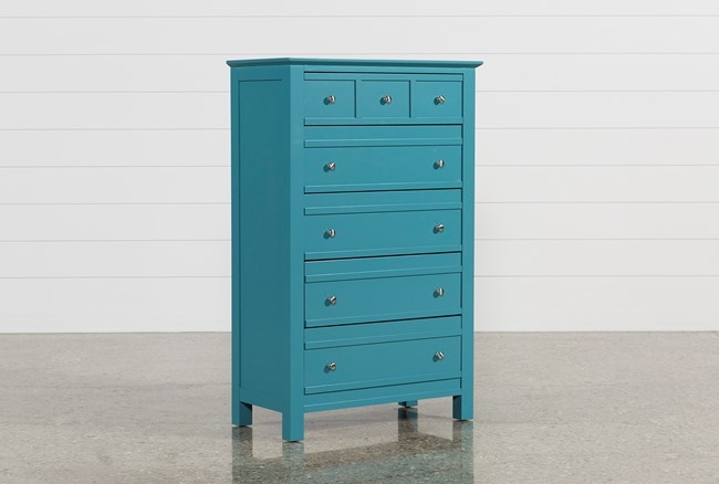 Bayside Blue Chest Of Drawers - 360