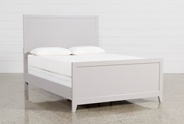 Bayside Grey Full Panel Bed
