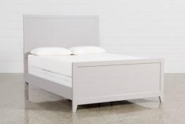 Bayside Grey Eastern King Panel Bed