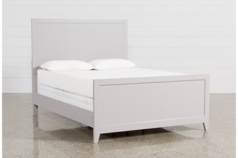 Bayside Grey Eastern King Panel Bed