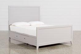 Bayside Grey Eastern King Panel Bed W/Storage
