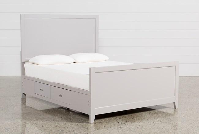 Bayside Grey Eastern King Panel Bed W/Storage - 360