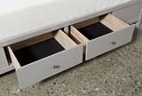 Bayside Grey Eastern King Panel Bed W/Storage - Top