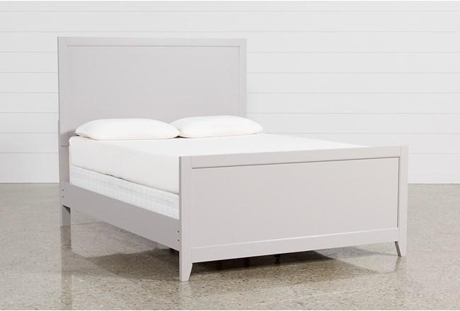 Bayside Grey California King Panel Bed - 360