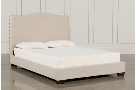 Kiera Queen Upholstered Panel Bed - Main