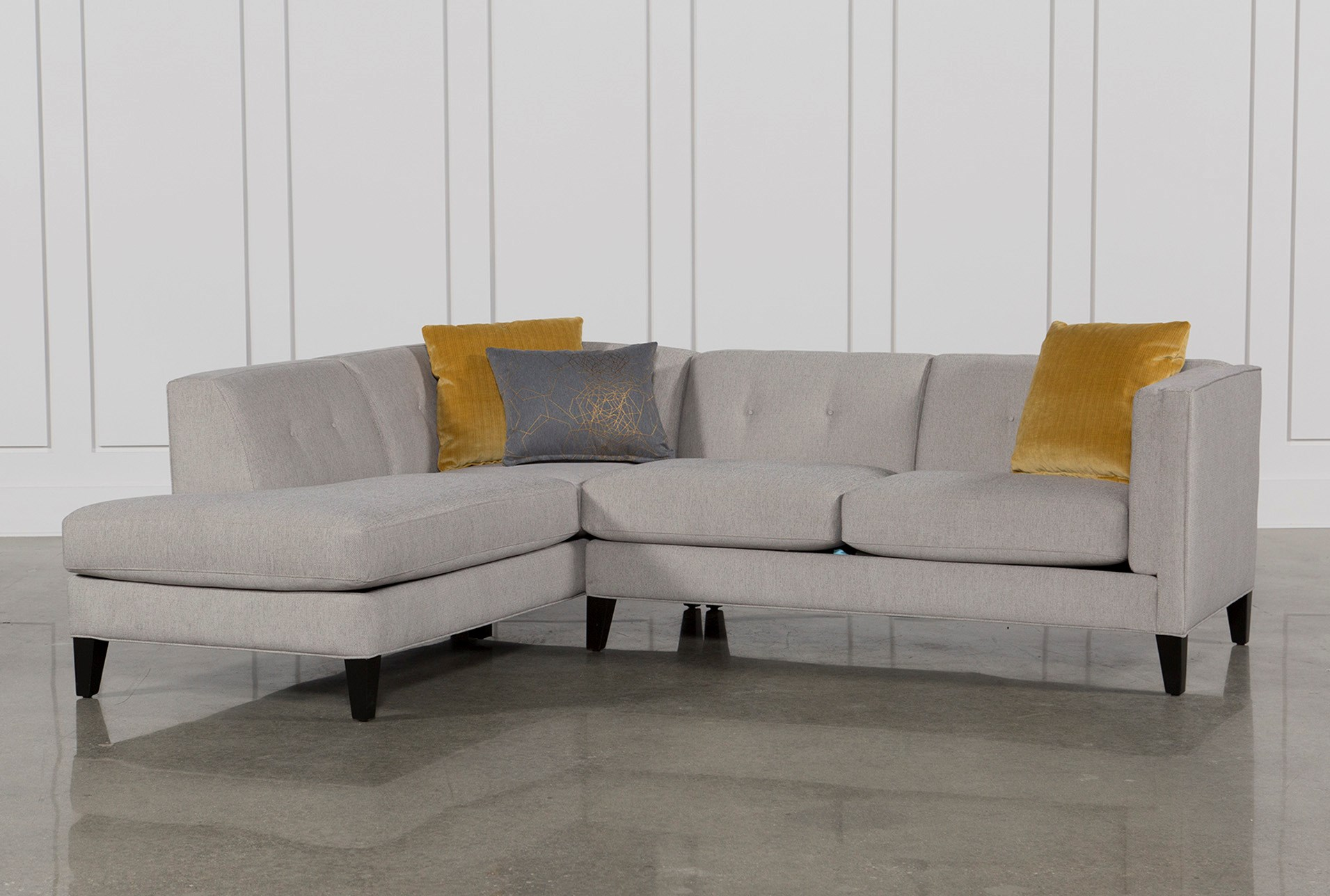 Avery 2 Piece Sectional W Laf Armless Chaise
